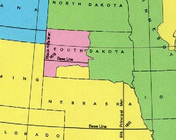 Black Hills Meridian Initial Point - Black Hills South Dakota.